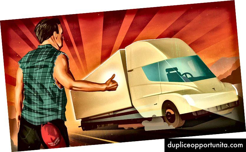 Automatisoidut rekkakuljetukset lupaavat parantaa liikenneturvallisuutta, vähentää fossiilisten polttoaineiden päästöjä ja viedä jopa 1,7 miljoonaa ihmistä töihin. Kiitos: Daniel Downey Rolling Stonestä