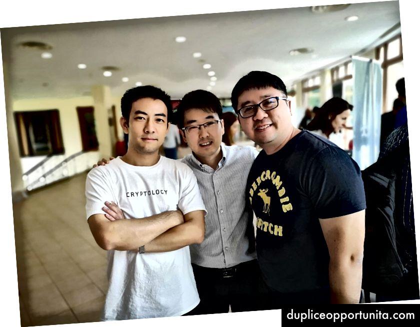 中:Bibox SEAのマネージングディレクターGuojie右:SWIPE CEOのClifford Lim
