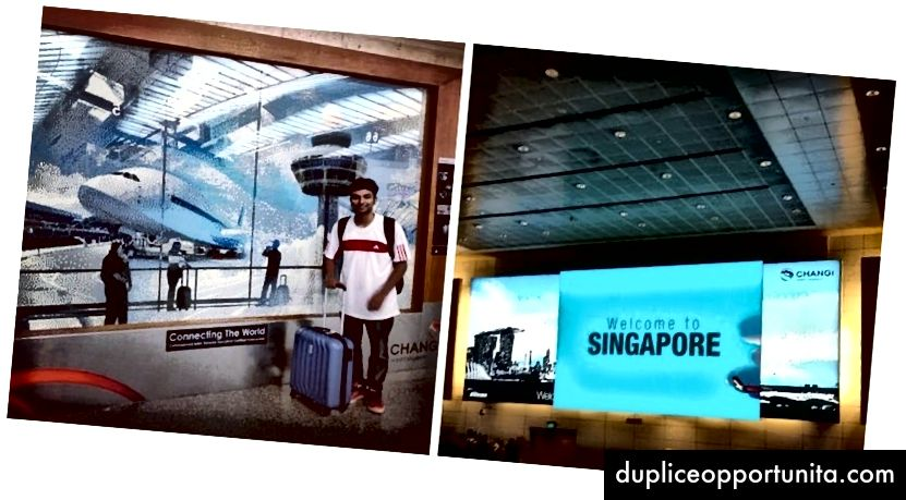 Kun hän lensi aina Singaporeen!
