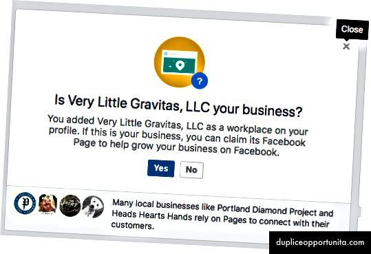 Facebookのデスクトップニュースフィードは、2018年6月8日にビジネスの所有権を要求します