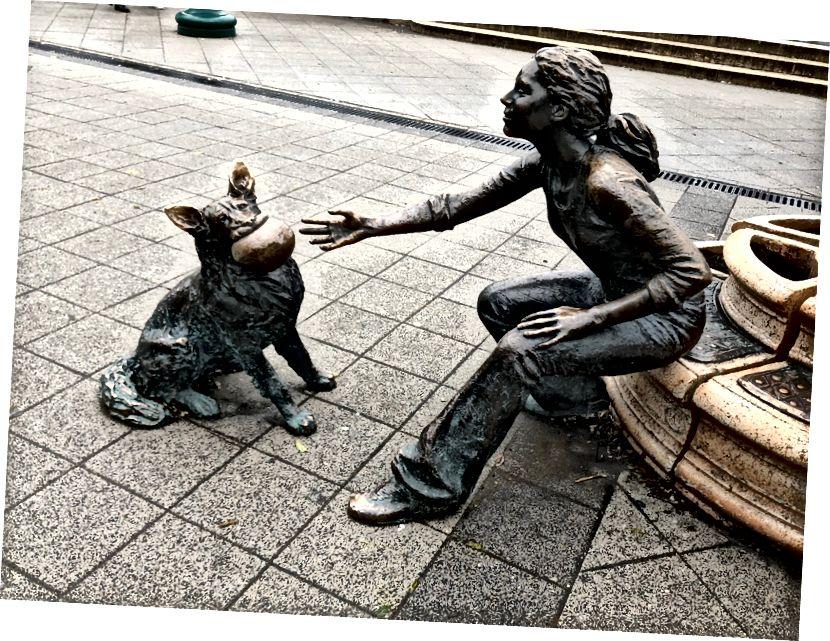 Budapeşte heykel