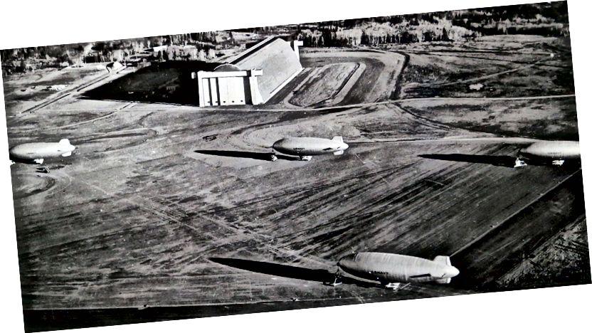 II. Dünya Savaşı sırasında Deniz Hava İstasyonu Tillamook (fotoğraf: Tillamook Hava Müzesi)