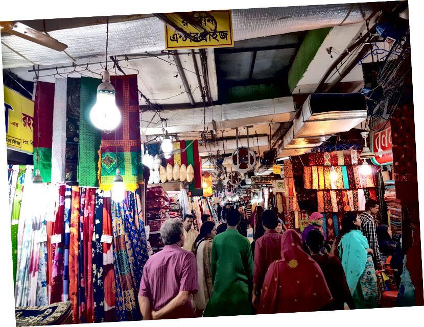 Newmarket, de centrale markt van Dhaka