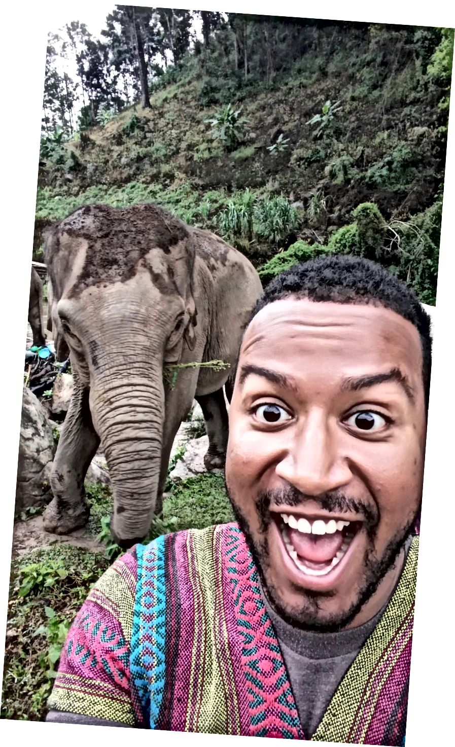 Đây có lẽ là khoảnh khắc hạnh phúc nhất trong cuộc đời tôi cho đến nay. Tình nguyện với voi ở Chiang Mai, Thái Lan.