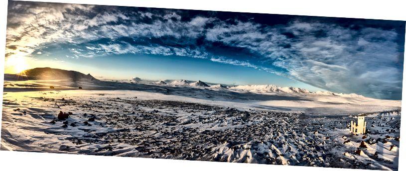 Panoramik manzaralı bir yer karayolu