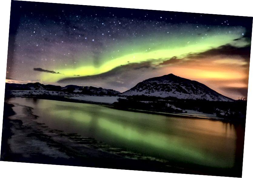 Lake Myvatn, Myvatn şirketinde Aurora