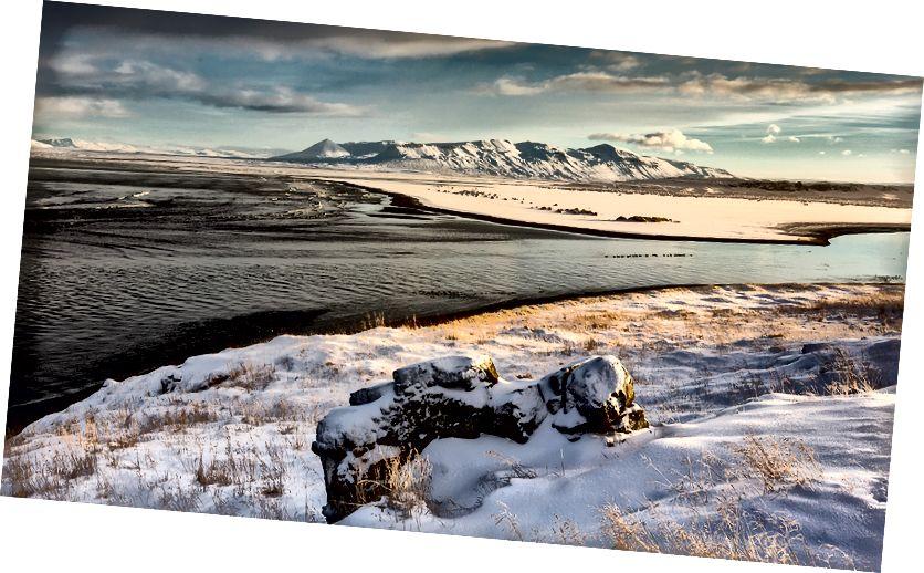 Vatnsnes Yarımadası gün batımında