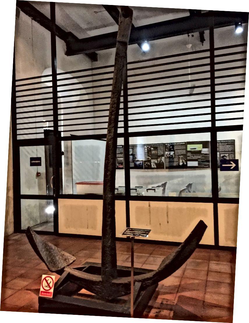 Цей якір належить до корабля-авантюра, який був розбитий в середині 1600-х років. На виставці у морському музеї Galle
