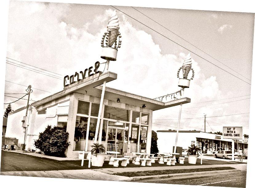 Магазин морозива Carvel, Rt. 1, West Palm Beach, Флорида, 1991, © V.Plut