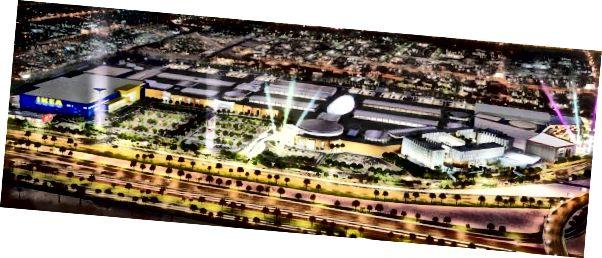 Útfærsla á Doha Festival City. Inneign: DFC