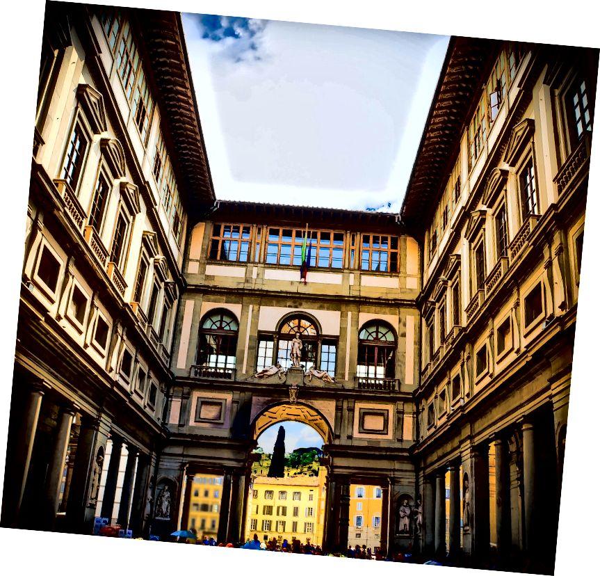 Галерея Уффіці в центральній Флоренції. Фото: Mariamichelle на Pixabay