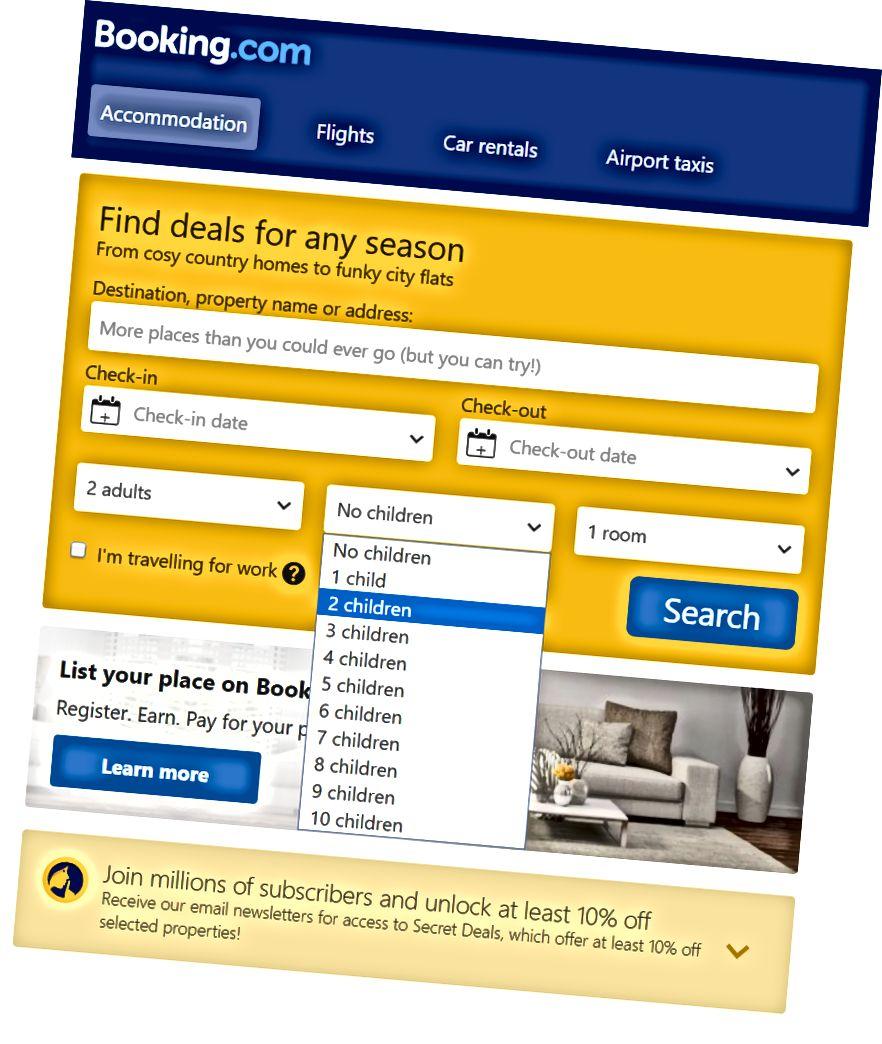 Booking.com, kullanıcılar hakkında birçok tanımlayıcı ve tanımlayıcı olmayan bilgi depolar