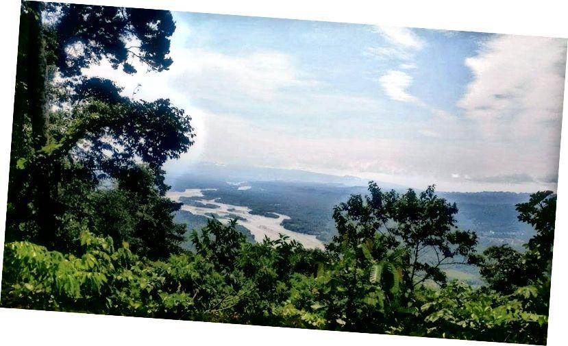 La vista del río Madre de Dios (вид на річку Мадре де Діос). Ману 7/2017.
