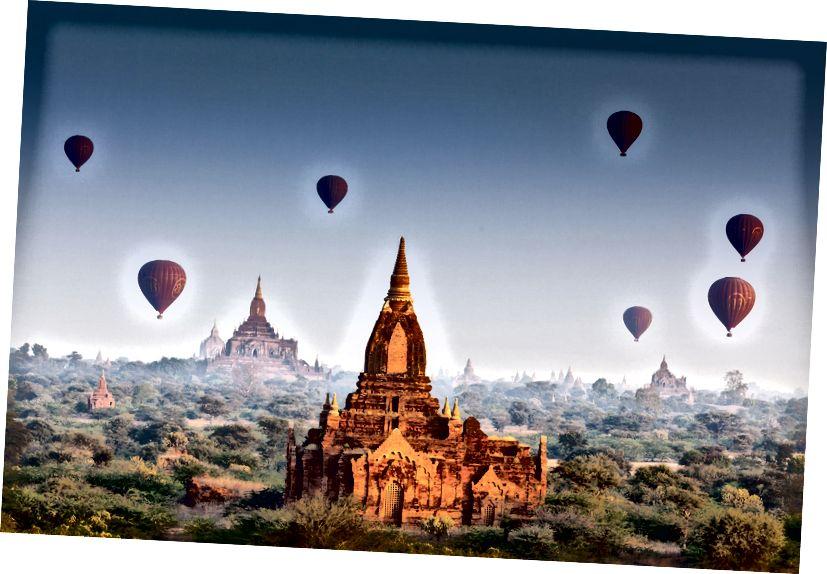 Bagan ustidan sharlar. (Shutterstokdan Wanderlust jurnali orqali.)