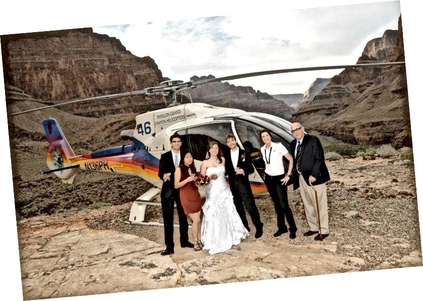 Lễ cưới của tôi xuống Grand Canyon