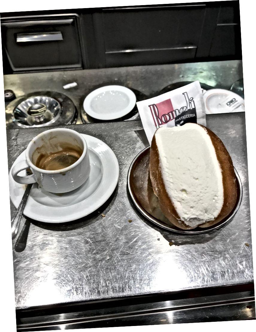 Espresso ve cornetto - Romalıların kahvaltı yakıtı