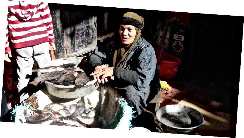 Người phụ nữ bán cá ở chợ | © Mariam Ghorab
