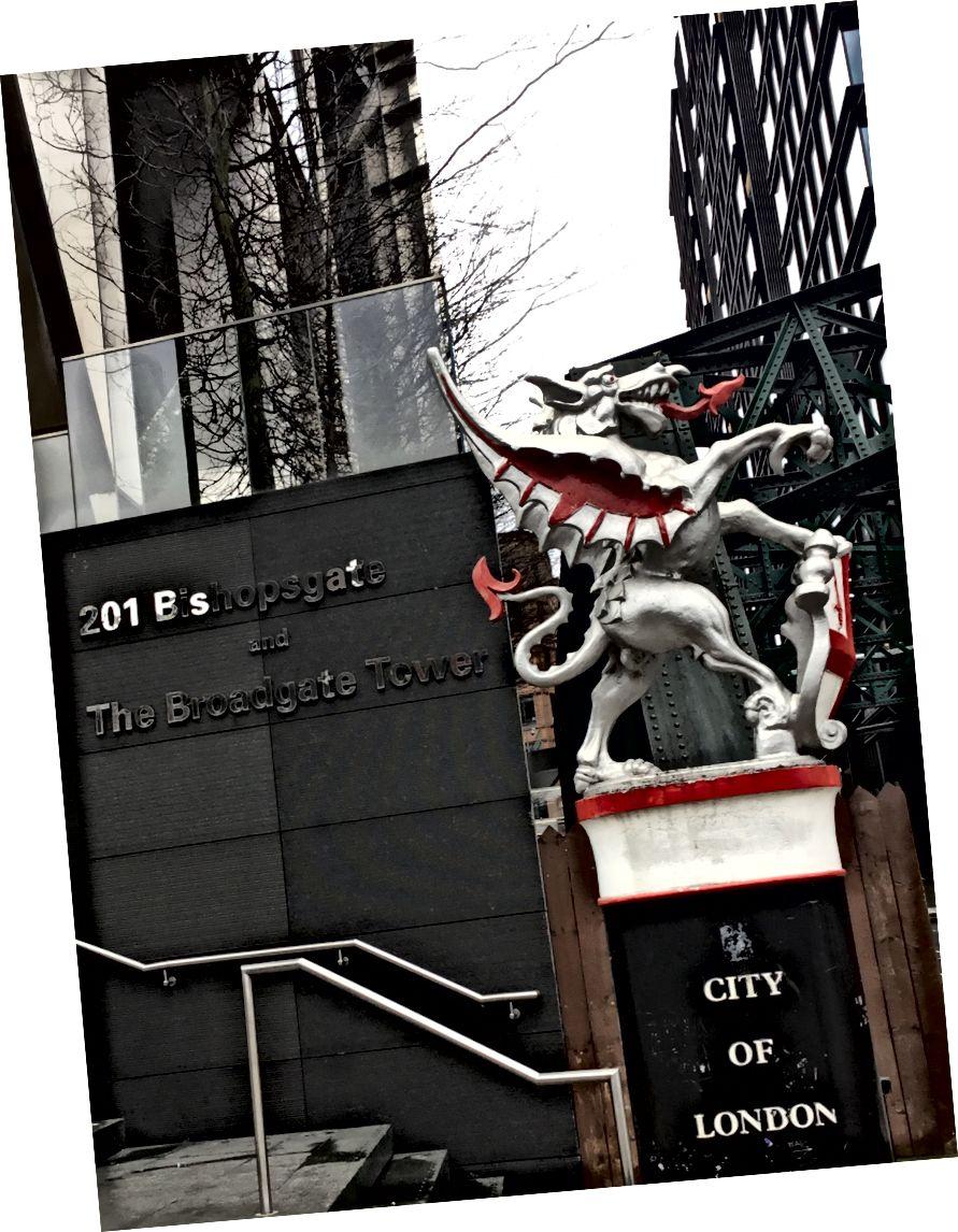 Срібний дракон, що захищає Лондонське місто
