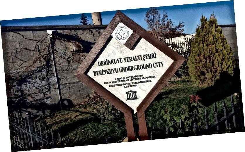 Dấu hiệu di sản thế giới thành phố ngầm Derinkuyu