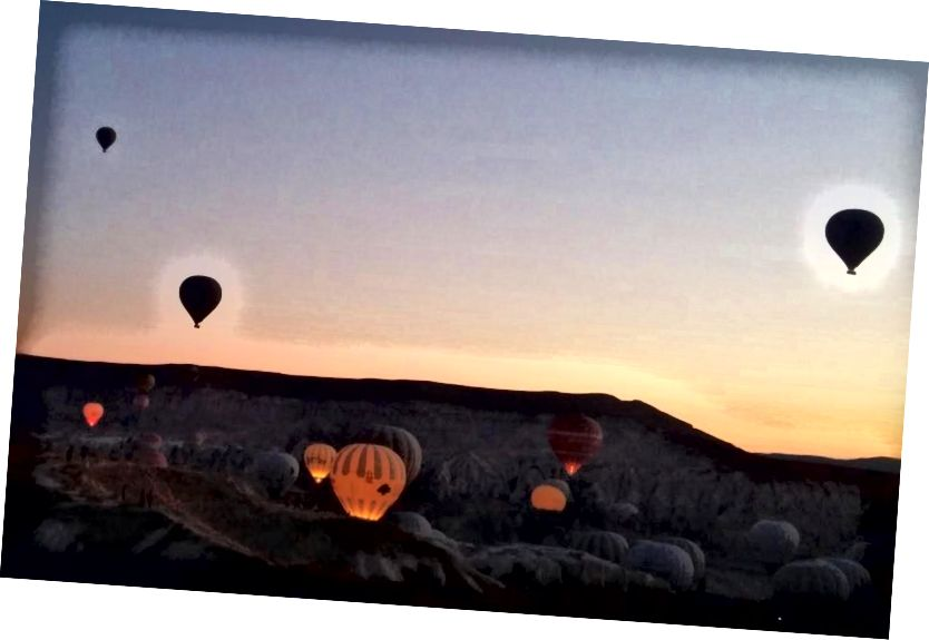 Khinh khí cầu trên Cappadocia