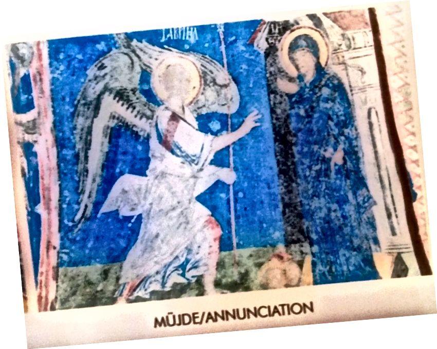 Tái sản xuất bức tranh tường Christian tại Bảo tàng ngoài trời Goreme