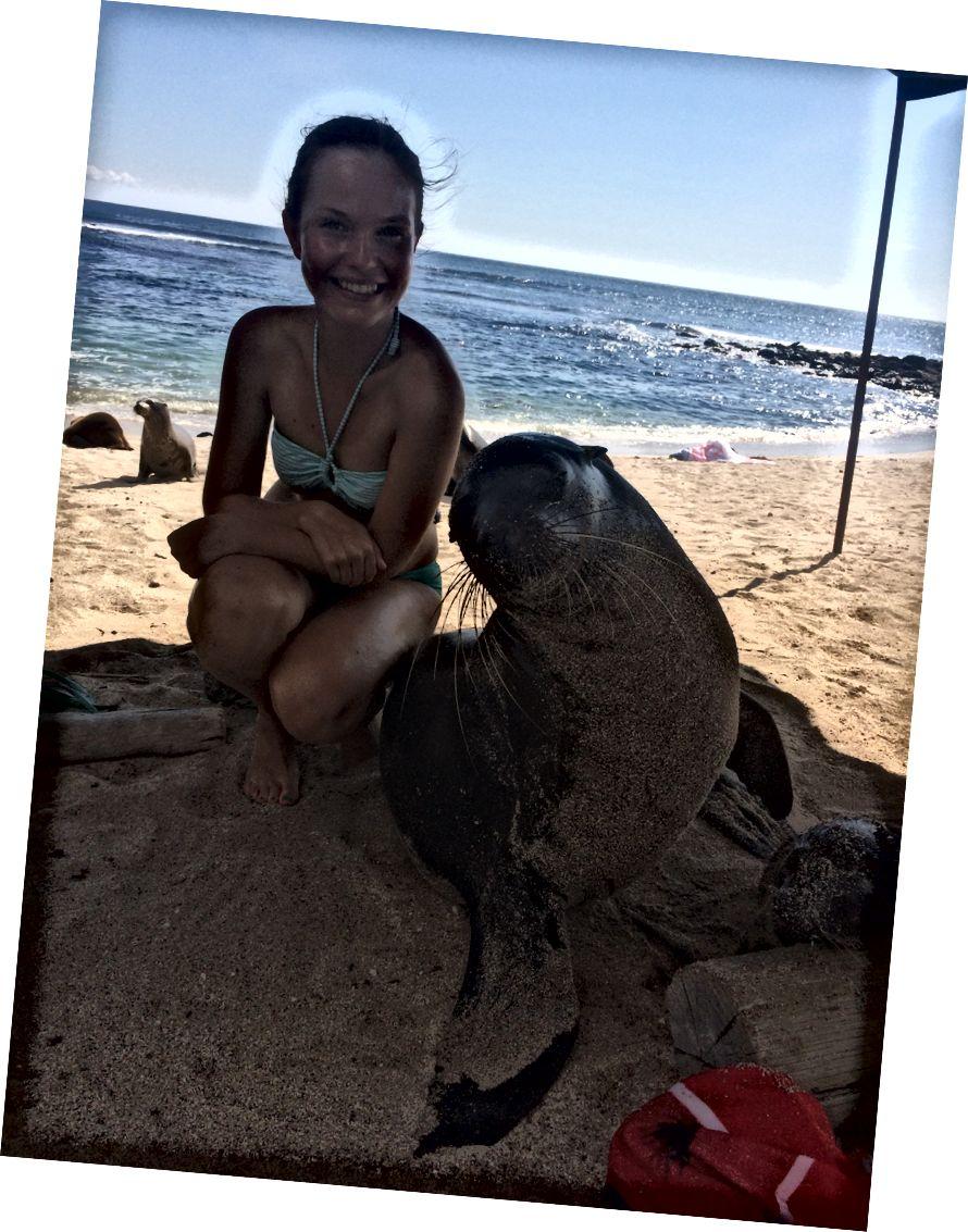 En iyi arkadaşım Galapagos Adaları, San Cristobal.