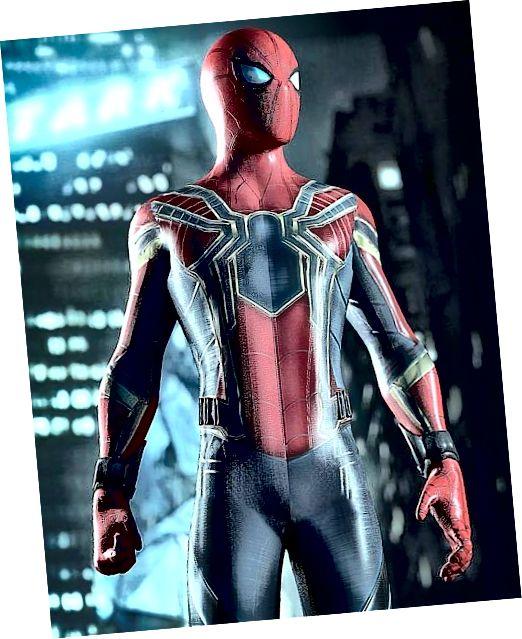 Spider man พร้อมชุดเหล็กจาก Infinity War :)