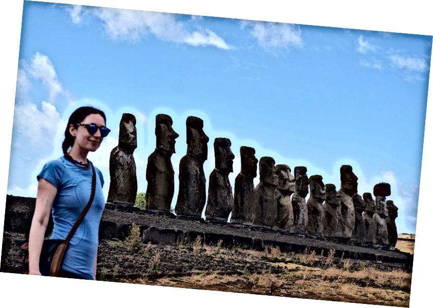 Tijdens het maken van deze foto bij Ahu Tongariki werd er niet gefloten