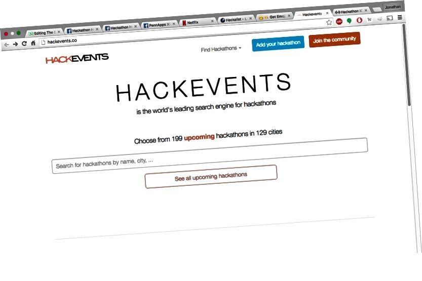 199 hackathons i 129 byer. Snakk om skjønnhet.