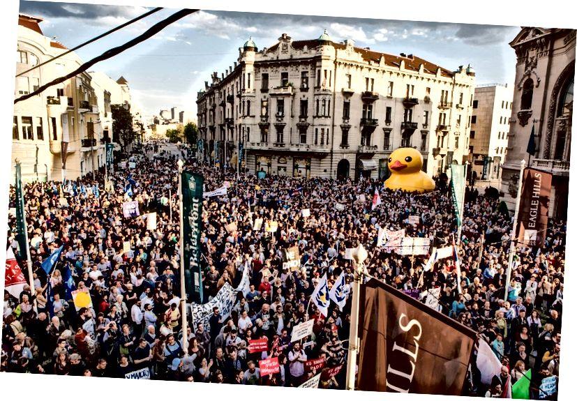 Tartışmalı Belgrad Waterfront projesine karşı protestolar | © Ne Davimo Belgrad / Facebook