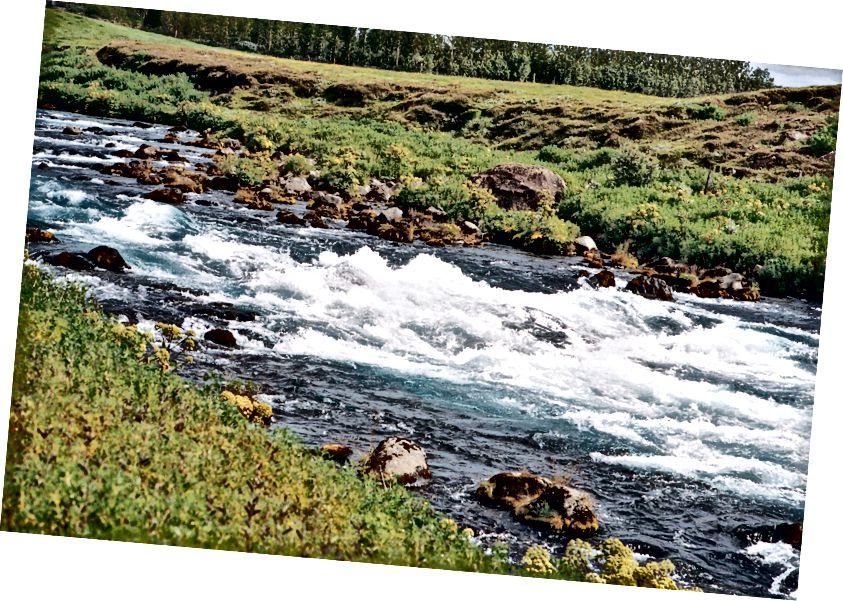 Nur einige Kilometer vom herrlichen Gullfoss entfernt sieht A Random Stream ™ deutlich besser aus und ist weniger von Touristen befallen. Kodak Portra 400