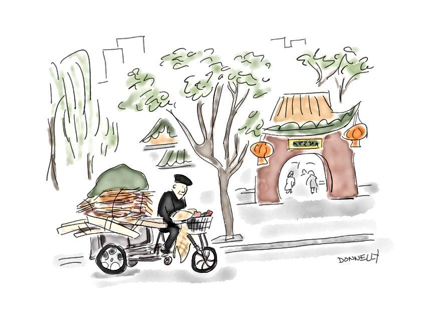 Küçük bisikletlerde büyük yük taşıyan birçok insan gördüm.