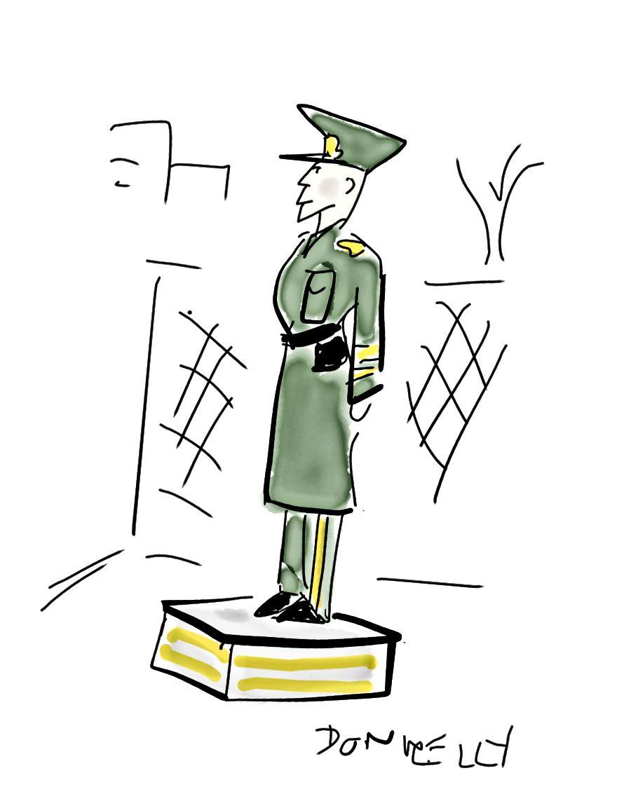 Ben genellikle platformlarda duran gardiyanlarım. Bu gördüğüm diğerlerine kıyasla oldukça mütevazi.