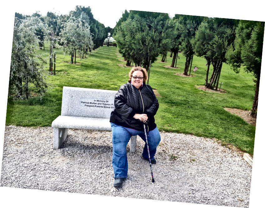 Benim güzel İrlandalı Lass, eşi Kathy, 9/11 Memorial Grove - sürücü ve arkadaşım Trevor bize Cork inanılmaz bir nokta
