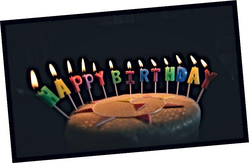 """Doğum Günün Kutlu Olsun Mumlarla Doğum Günü Pastası"" Annie Spratt tarafından Unsplash'ta"
