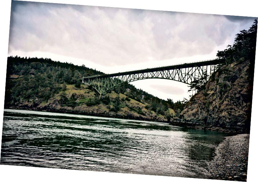 Aldatma geçiş Köprüsü sahil görünümü.