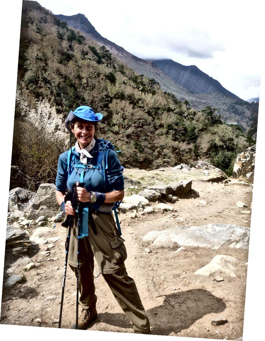 Everest Base Camp Zammı, Nepal, yazar at 61 yaşında