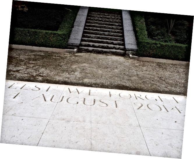 Щоб ми не забули, вхід військового кладовища в Сен-Симфорієн (Бельгія)