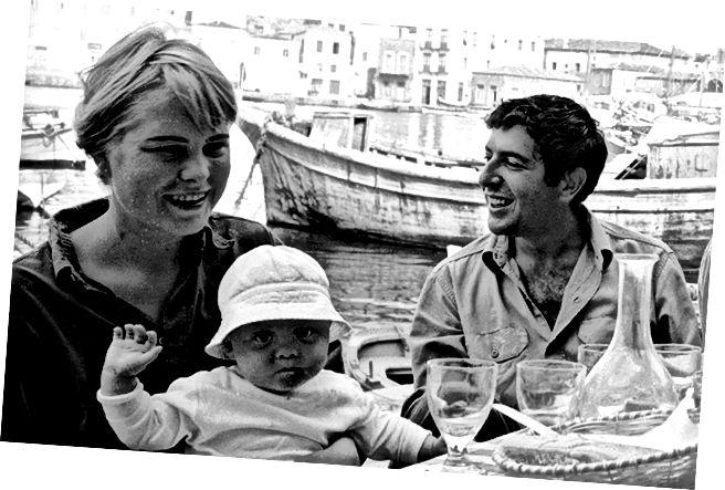 Cohen ve Marianne Ekim 1960'ta LIFE Magazine fotoğrafçısı James Burke tarafından. © LIFE Dergisi.