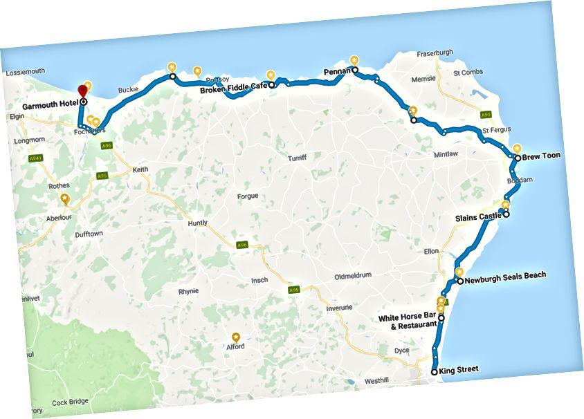 1.Gün - Aberdeen'den Garmouth'a