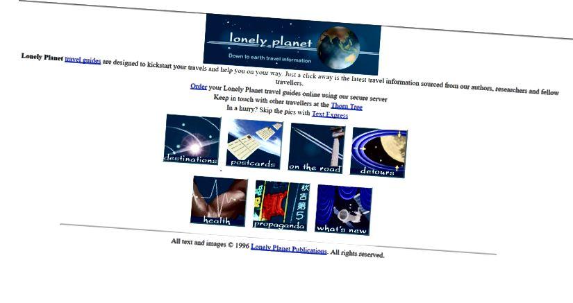 Vietnes lonelyplanet.com pirmā mājas lapa