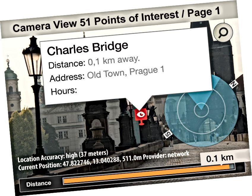Lonely Planet lietotne Compass kameras skatā iekļāva mērķa saturu
