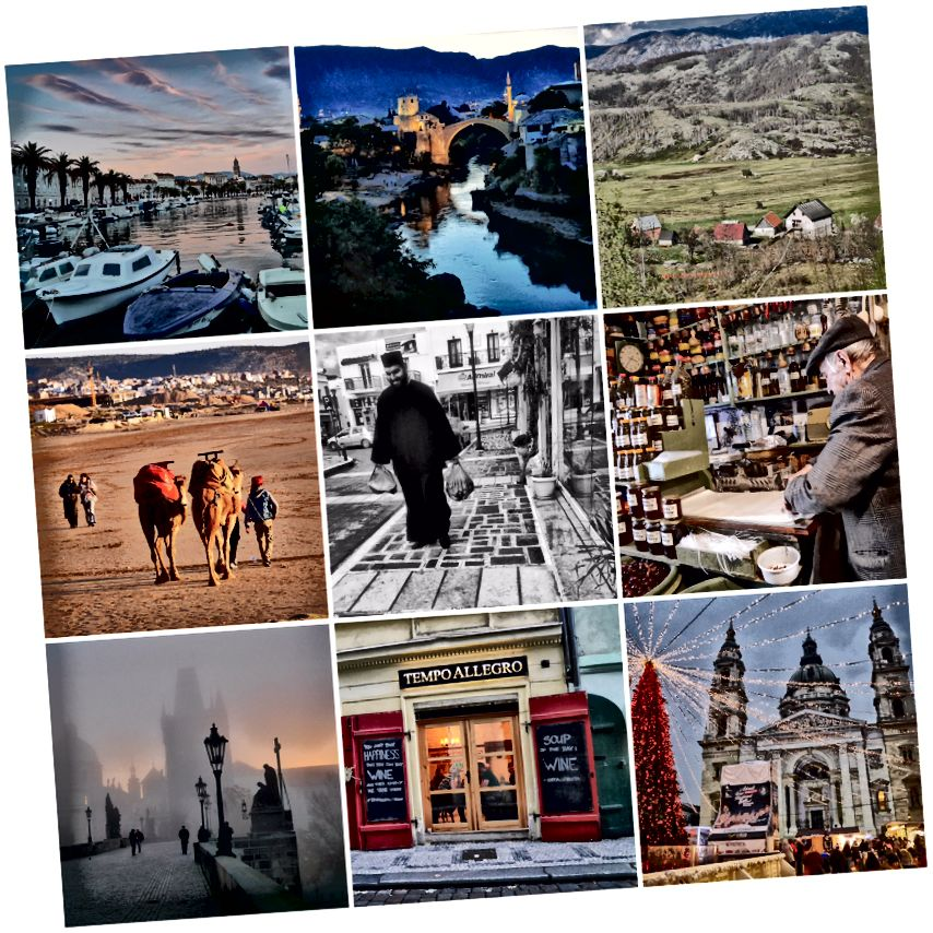 Một số nơi lấp đầy năm ngoái của tôi. Ma-rốc. Hy Lạp. Bosnia. Budapest Prague. Croatia.