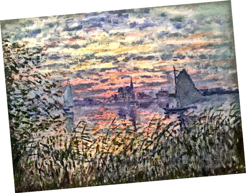 Клод Моне-Морський Вид із заходом сонця