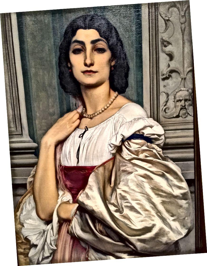 Сер Фредерік Лейтон-Портрет римської леді