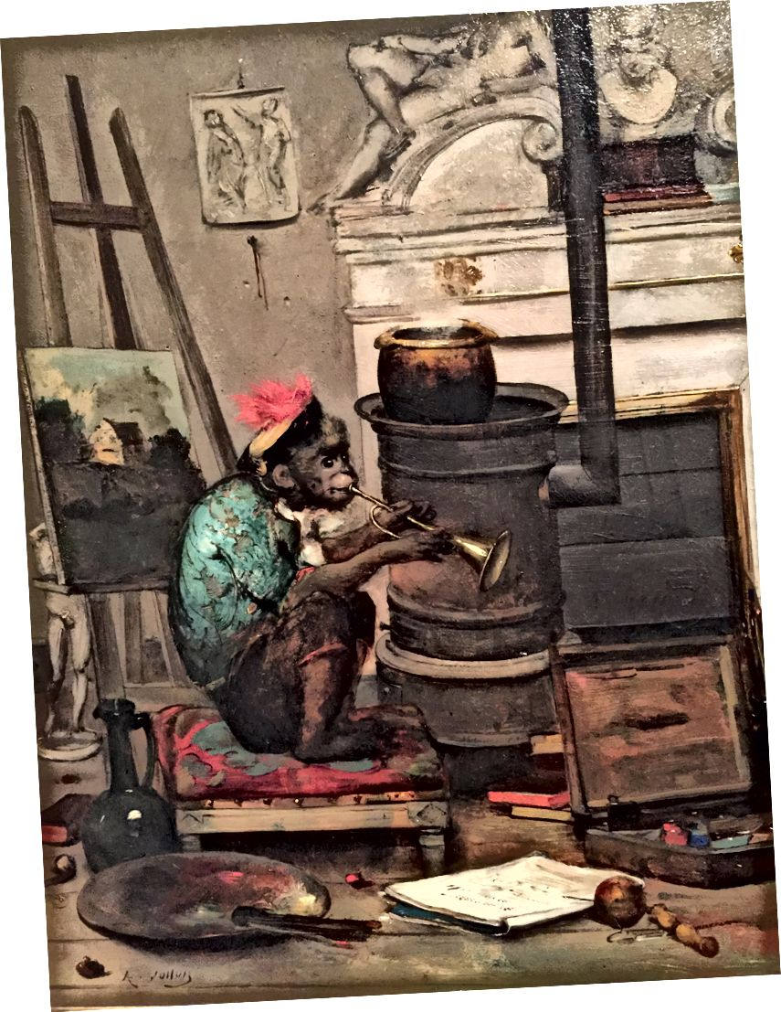 Антуан Воллон-Мавпа в студії