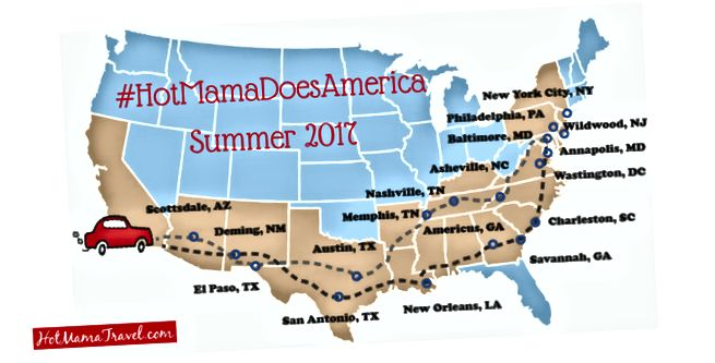 Маршрут, який ми пройшли протягом 60 днів, починався з округу Оранж, штат Каліфорнія
