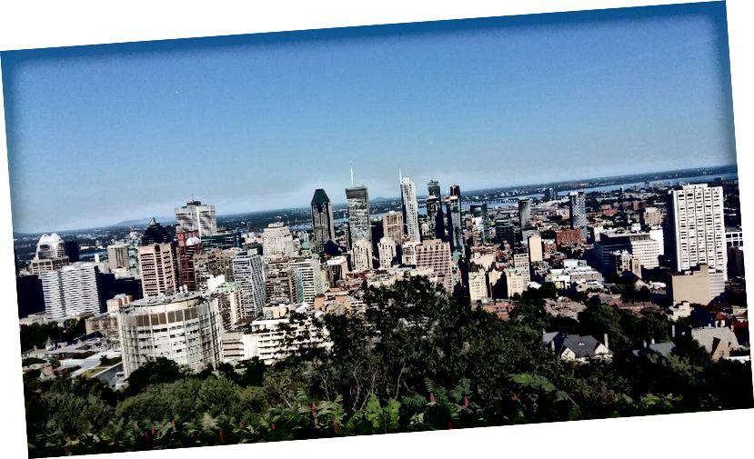 Mont Royal'den şehir manzarası (yaz 2017)