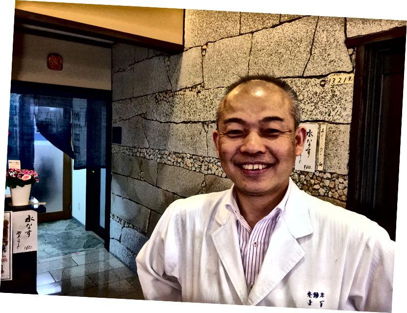 Містер Хіроюкі Мурат, шеф-кухар та власник ресторану Уосекі в Таїмі