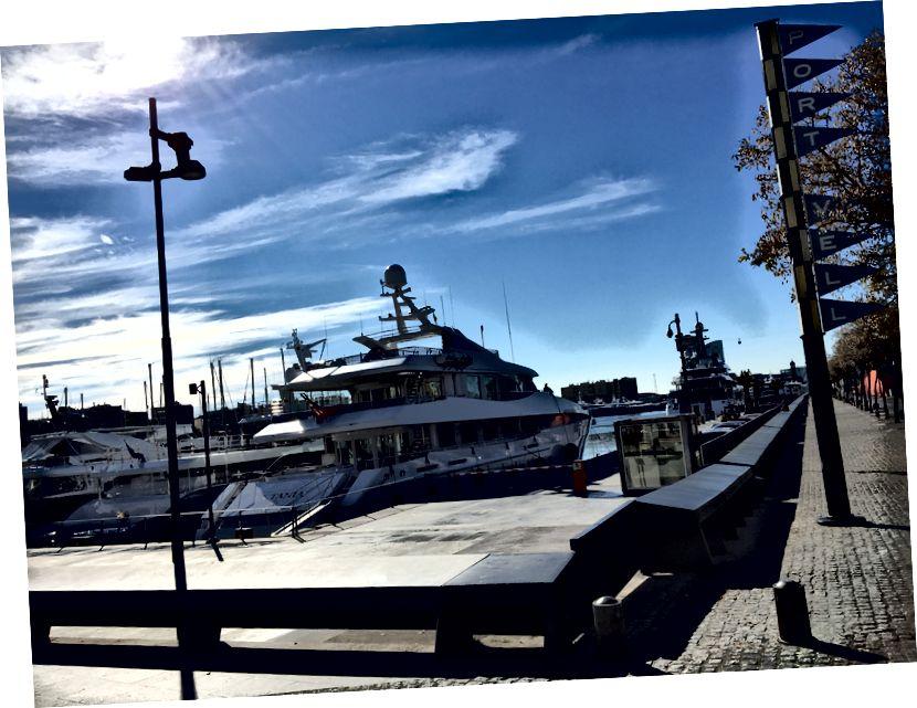 Şehir merkezine (ki bana Newport Beach hatırlattı) limana ve okyanus sadece 20 dakika sürer.